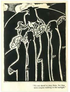 Ilustración original de Alexander King para <em>The Magic Island</em>