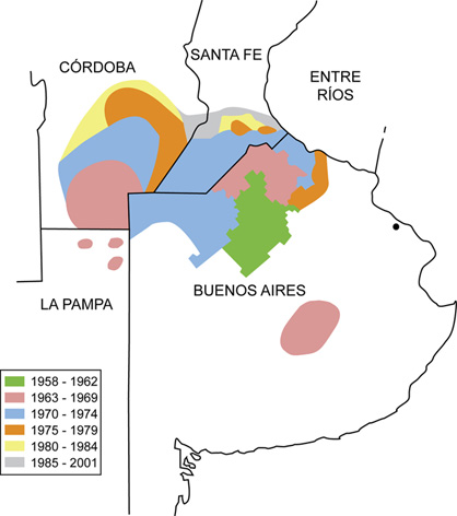 Extensión progresiva del área endémica de Fiebre Hemorrágica Argentina