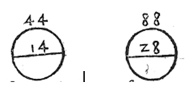 Relationship between the perimeter of the circumference and its diameter in (Pérez de Moya, 1562, pp. 310-311)