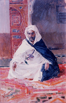 Portrait of Felipe Óvilo in Marrakech, by Enrique Simonet (1894). Source: Courtesy of Milagro Óvilo.