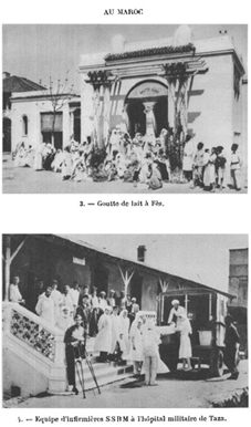 French Red Cross civil and military schemes in Morocco, date unknown. Source: Lyautey (1933).