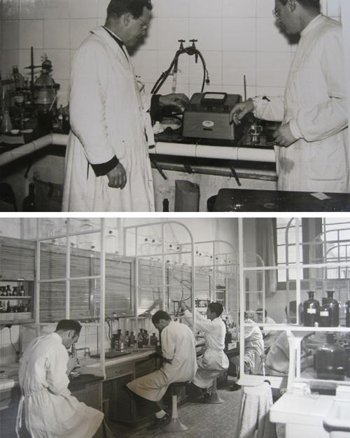 Laboratorio de bacteriología (fermentaciones) del Padre Puiggrós. Fuente: AHSIC
