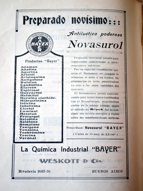 Publicidad de laboratorio «Bayer»