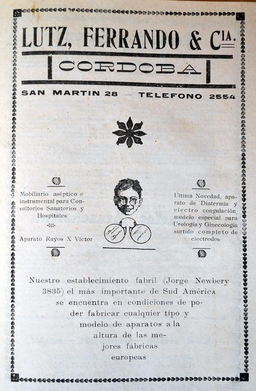 Publicidad de la empresa «Lutz Ferrando y Cia»