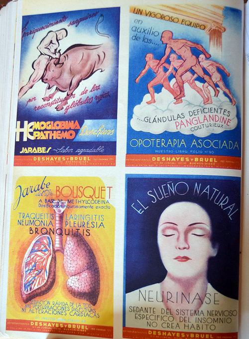 Publicidades de los representantes «Deshayes y Bruel»