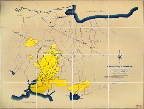 Plano de las plantaciones de los centrales de Manuel Rionda. Archives of Bragha Brother Collections. New York Public Library