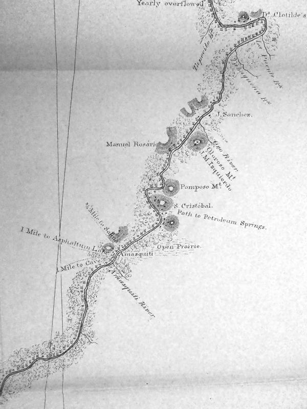 Particular del rio Coachapa: las salinas de San Cristóbal y la áreas petroleras alrededor (Shufeldt, 1872)