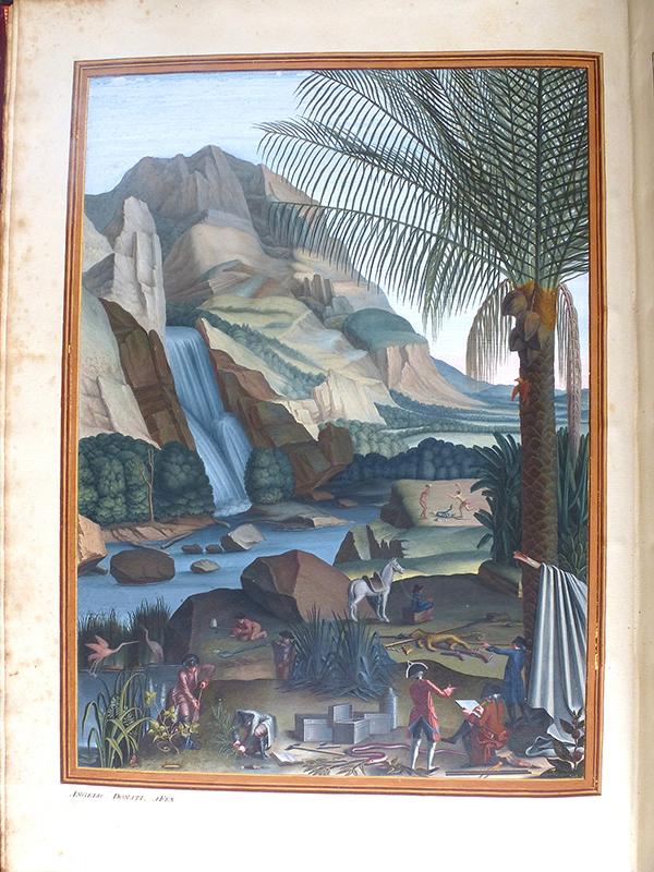 Frontispicio del primer volumen, obra de Ângelo Donati (AHMUHNAC, RES.2, vol. 1). Fotografía A.M. Costa.