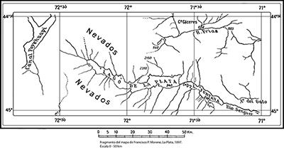 H. Steffen: El río Frías y el lago La Plata según Argentina