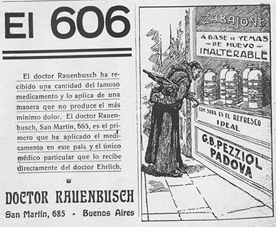 Propaganda acerca del 606- Caras y Caretas. Semanario festivo, literario, artístico y de actualidades, Año XIII, Nº 638, Buenos Aires, 24/12/1910- Buenos Aires