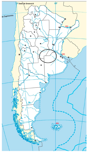 Zonas principalmente afectadas. Fuente: elaboración propia en base a Instituto Geográfico Nacional (web)