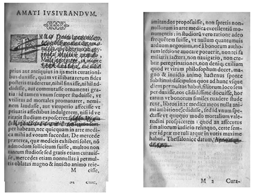 Extract from the Amatus Oath, Centuriae VII, Venitii, 1566, pp. 177 and seq.