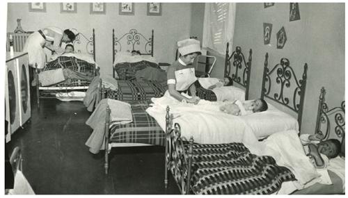 Dormitorio de la residencia